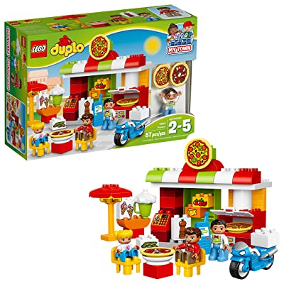 LEGO DUPLO My Town Pizzeria 10834, Preschool, Pre-Kindergarten Large Building Block Toys for Toddlers (57 Pieces): Toys & Games