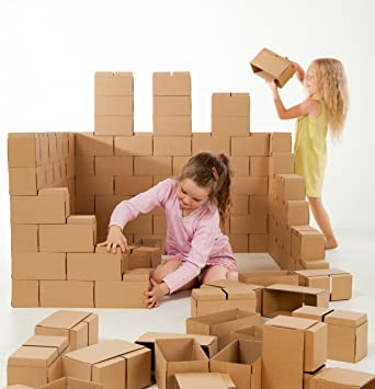 GIGI Bloks - Bloques de construcción gigantes de cartón, juegos de construcción para niños ,