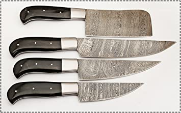 Merveilleux Hand Made Beautiful Ture Damascus Steel Kitchen Chef Knife Set 4 Piece Bc 105 Bh      Amazon.com