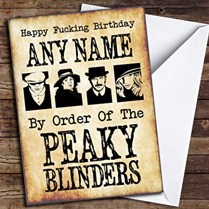 Peaky Blinders Funny Birthday Personalized Card
