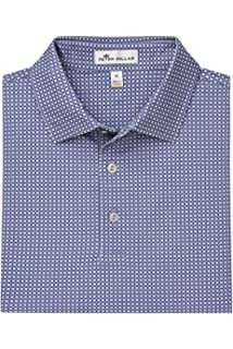 d6695279 PETER MILLAR Windemere Printed Foulard Stretch Mesh Polo (XXL) Navy ...