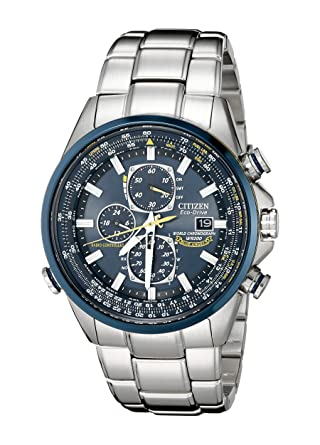 48e1fc92c Amazon.com: Citizen Men's AT8020-54L Blue Angels Stainless Steel Eco-Drive  Dress Watch: Citizen: Watches