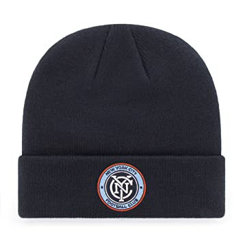 uk availability 0eac4 80010 ... discount code for ots mls new york city fc raised cuff knit cap navy  one size