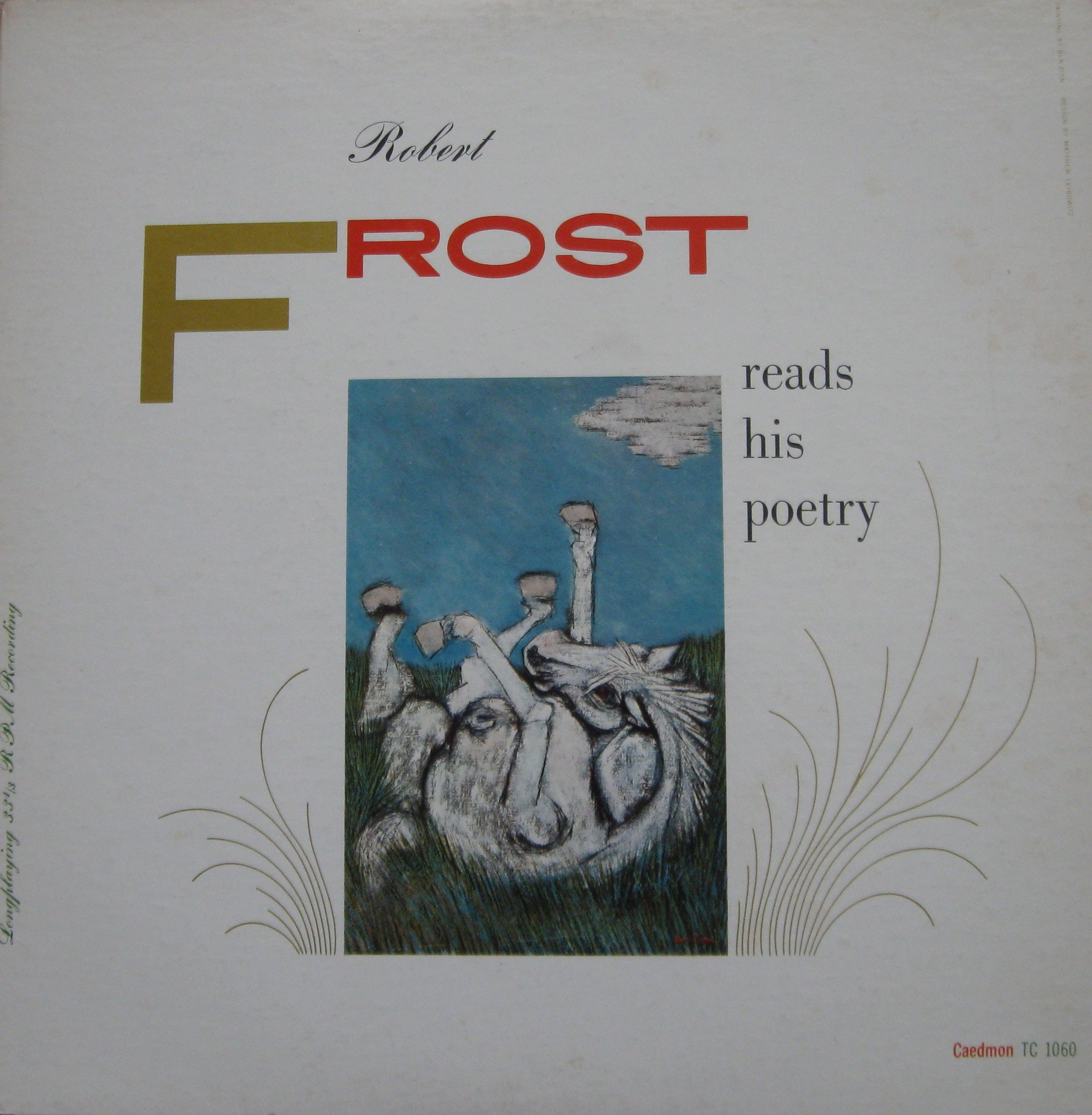 1956 Robert Frost Reads His Poetry Vinyl LP Record
