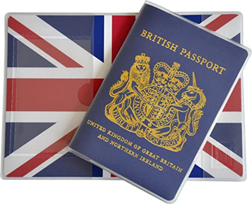 British Passport Cover Blue Brexit Amp Union Jack 3way Inlay Made In The Uk Secure Inner Pocket