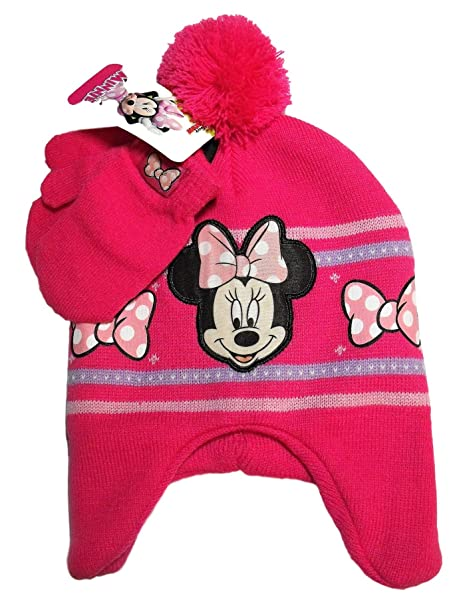 8d957b18317 Image Unavailable. Image not available for. Color  Disney Minnie Mouse Knit  Pom Pom Hat ...