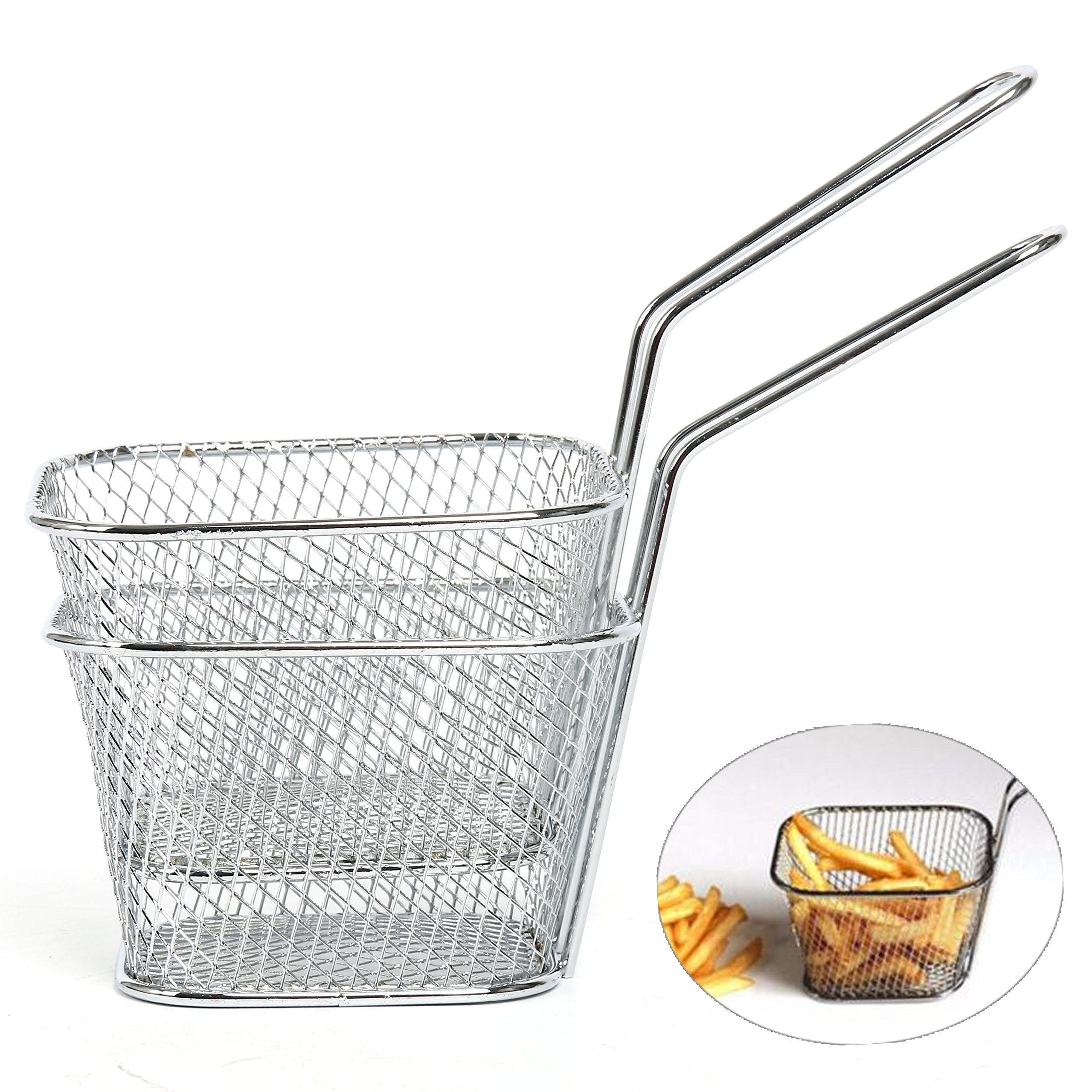 Yaekoo 8Pcs Mini Mesh Wire French Fry Chips Baskets Net Strainer Kitchen Cooking Tools by Yaekoo (Image #4)