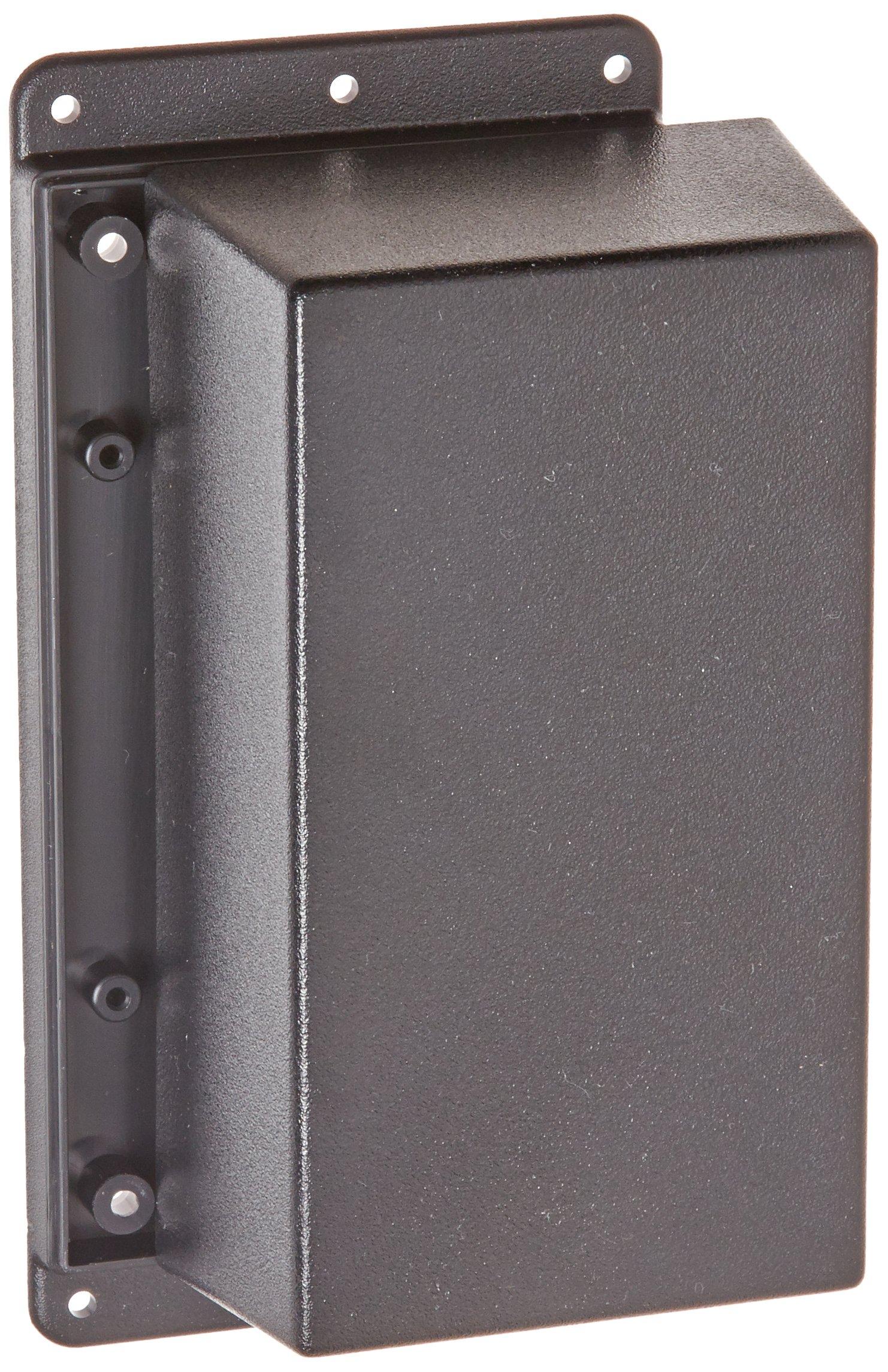 Serpac WM053 ABS Plastic Wall Mount, 6-5/8'' Length x 3.30'' Width x 2-7/64'' Height, Black