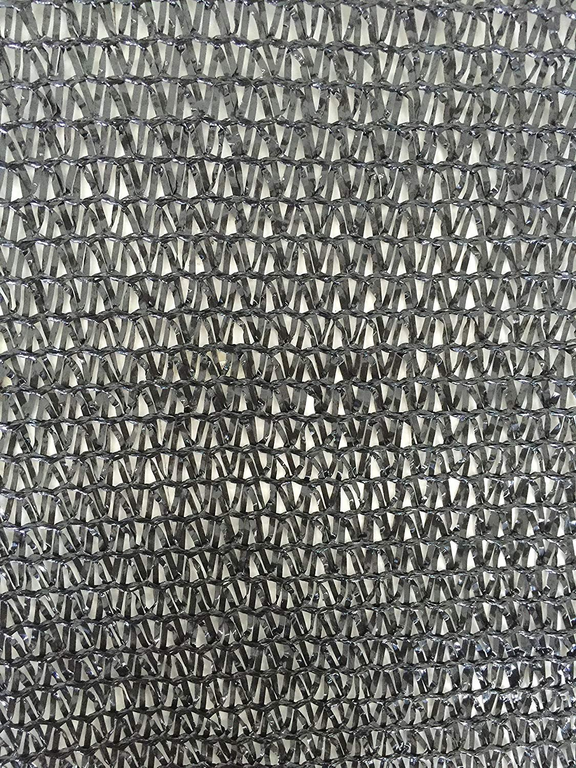Black 6.5 x 10 Ecover 60/% Shade Cloth Sunblock Fabric Cut Edge with Free Cilps UV Resistant for Garden Plants Cover
