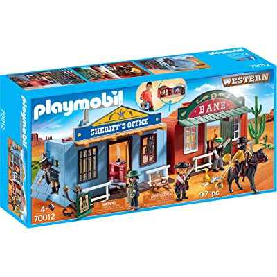 PLAYMOBIL Take Along Western City: Toys & Games