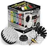 Drillbrush 3 Piece Drill Brush Cleaning Tool Attachment Kit for Scrubbing/Cleaning Tile, Grout, Shower, Bathtub, and All…