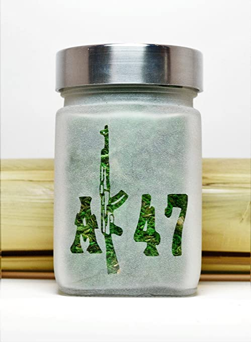 Amazon.com : AK47 Stash Jar - Weed Accessories & Stoner Gifts - Cannabis Gifts for Him - Stoner Accessories - Etched Glass Stash Jar : Everything Else