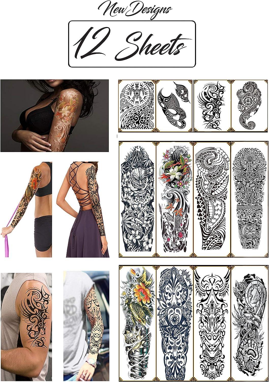 Amazon Com Temporary Tattoos Hawaiian Tribal Large Full Arm Half