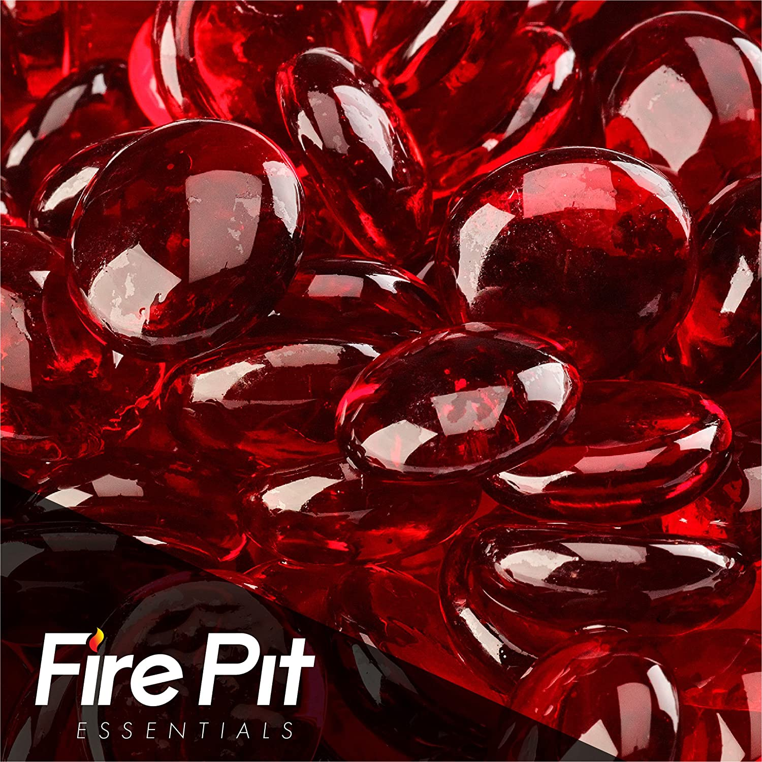 Sangria Fire Beads Fire Glass Firepit Glass 10 Pounds Great for Fire Pit Fireglass or Fireplace Glass Fire Pit Essentials FB-01