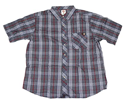 ab251712b9d Dickies Men s Short Sleeve Casual Plaid Shirt at Amazon Men s Clothing  store