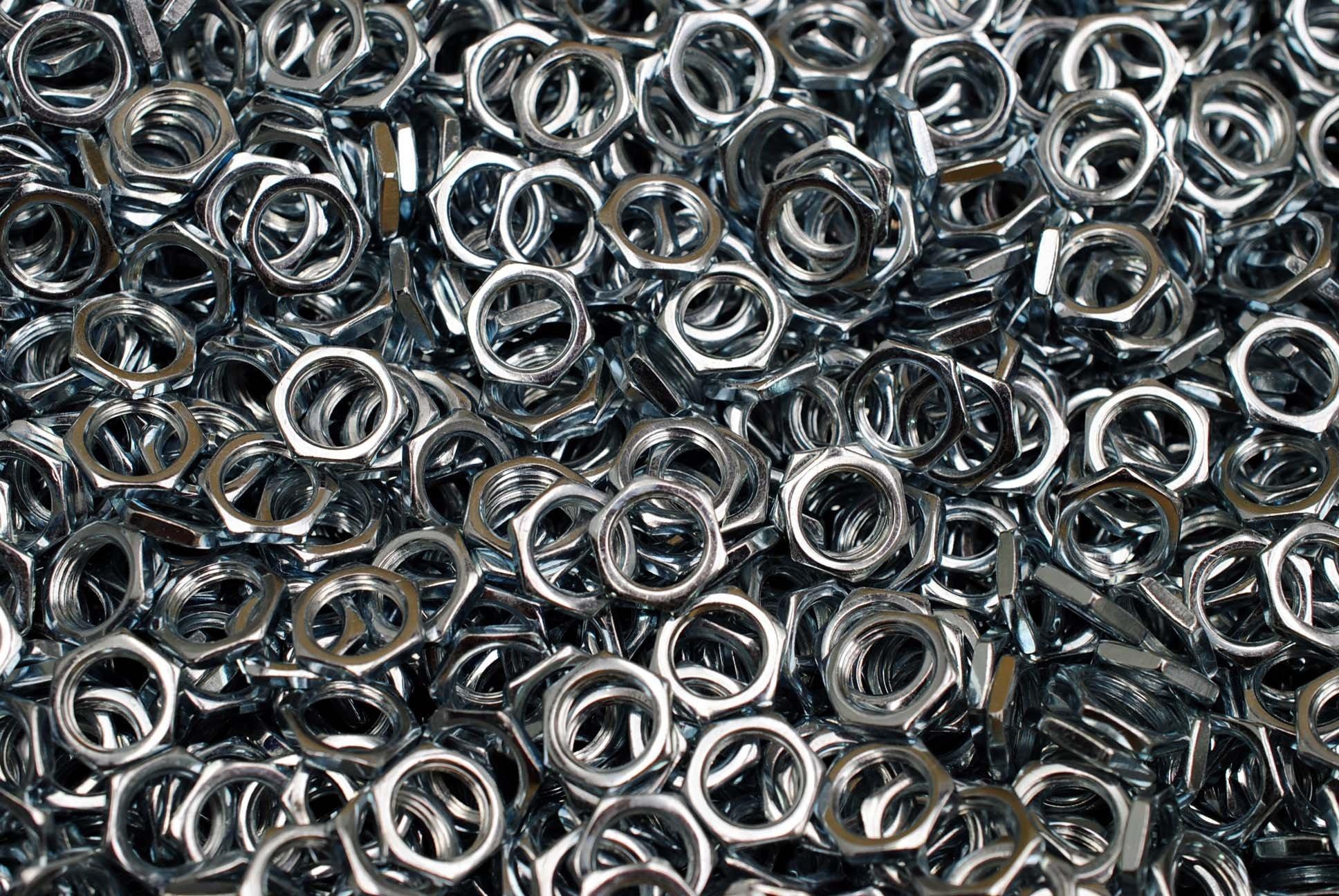 (500) Hex Panel Nuts 3/8-32 Extra Fine Thread - Zinc Plated 3/8-32 x 3/32 x 1/2