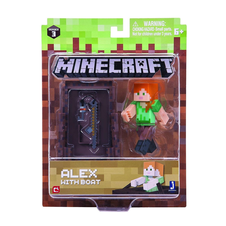 Minecraft  - 16491 - angelnde Alex mit Accessoire Jazwares Fantasy-Charaktere