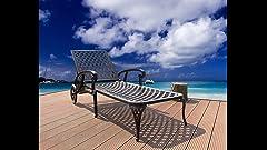 Amazon Com Strathwood Rhodes Chaise Lounge Chair Garden
