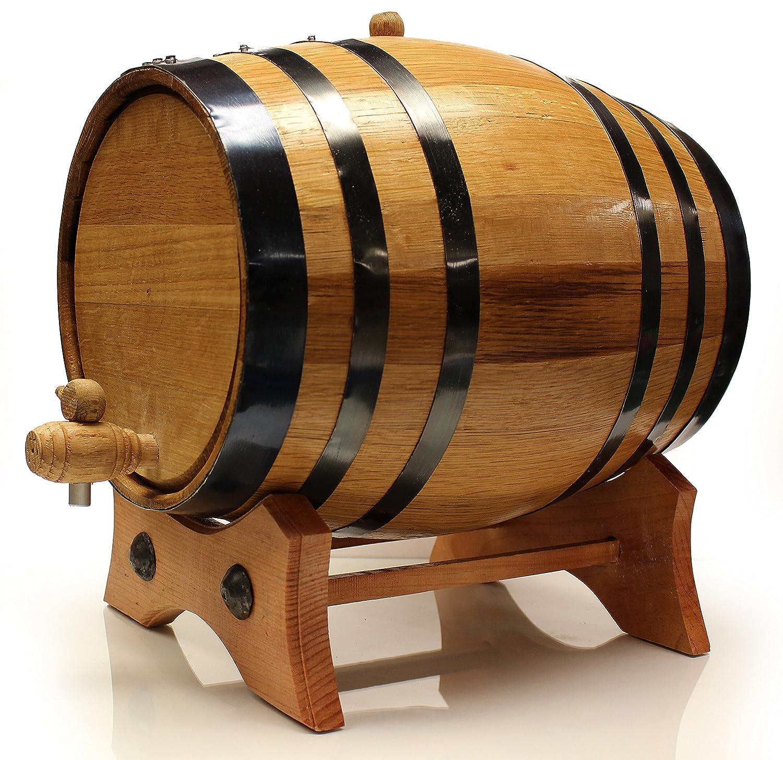Golden Oak Barrel - ブラックスチール | 光沢スチール | 真鍮 | 30ページ エイジングガイド | ビニール樽デカール | 髪漏斗 | 漏れません 20 Liter B01HMXDKC2 20 Liter|Black Steel Black Steel 20 Liter