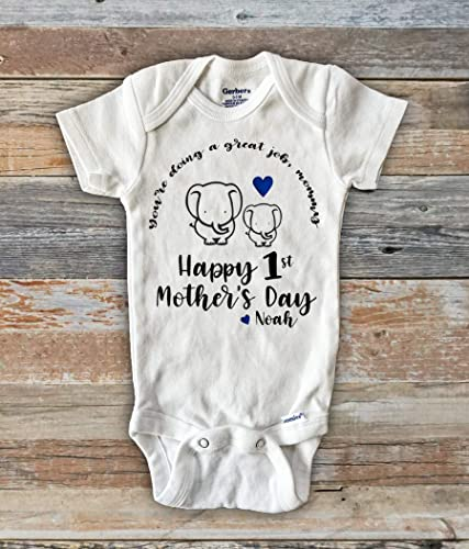 46d3bdc5 Image Unavailable. Image not available for. Color: You're doing a great job  mommy Happy first Mother's Day ...