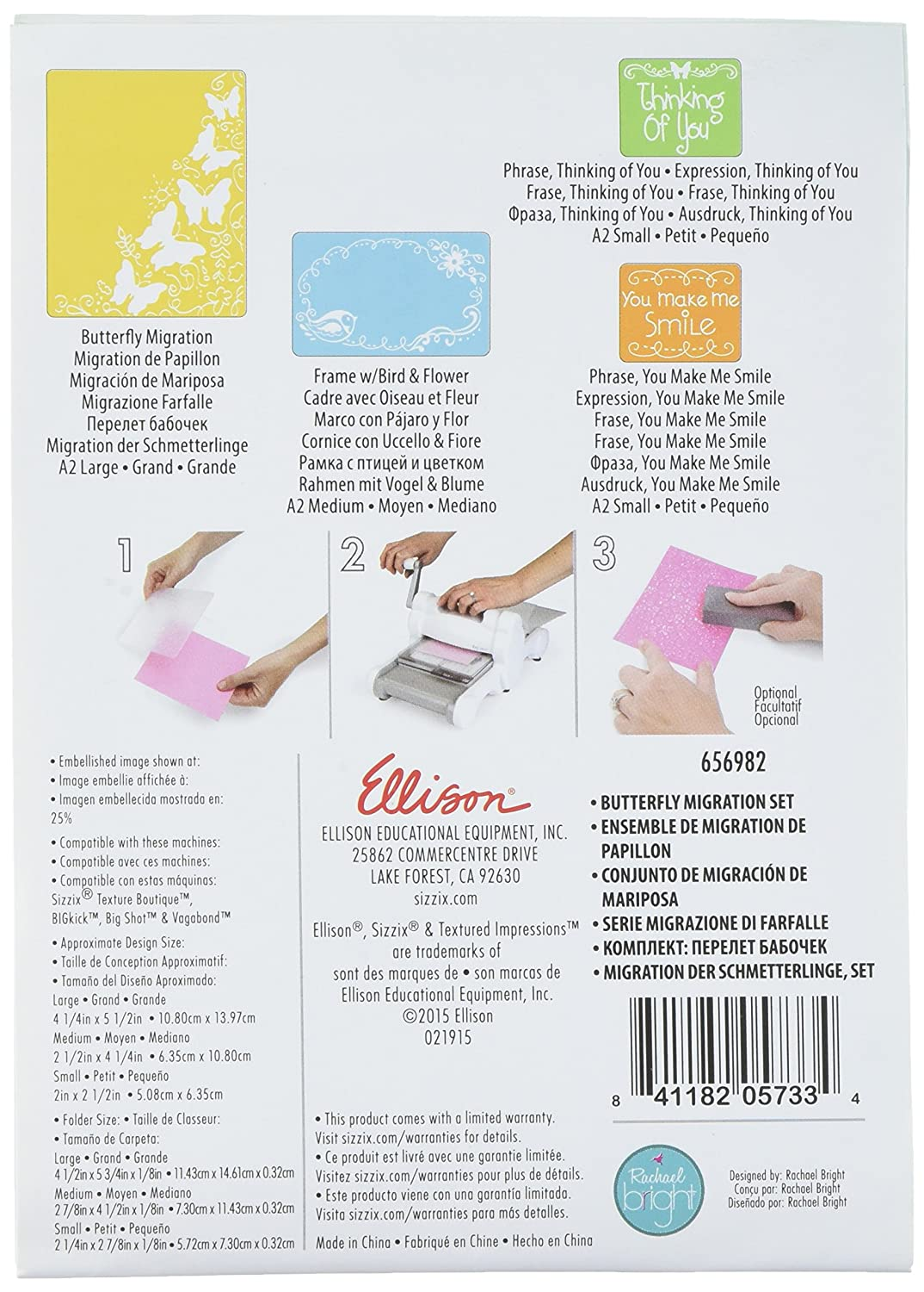 Flourish Dots and Ribbon Set by Rachael Bright Sizzix Textured Impressions Embossing Folders 2-Pack