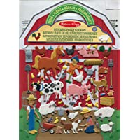 Melissa & Doug- On The Farm Juego con Pegatines Reutilizables, Multicolor (19408)