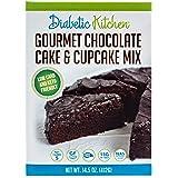 Diabetic Kitchen Keto Chocolate Cake Mix - Keto Friendly Low Carb Cupcakes - No Sugar Added, Gluten-Free, 15g of Fiber, Non-G
