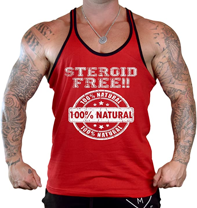 Interstate Apparel Inc Mens Neon Beware of Pitbulls Sleeveless White T-Shirt Gym Tank Top