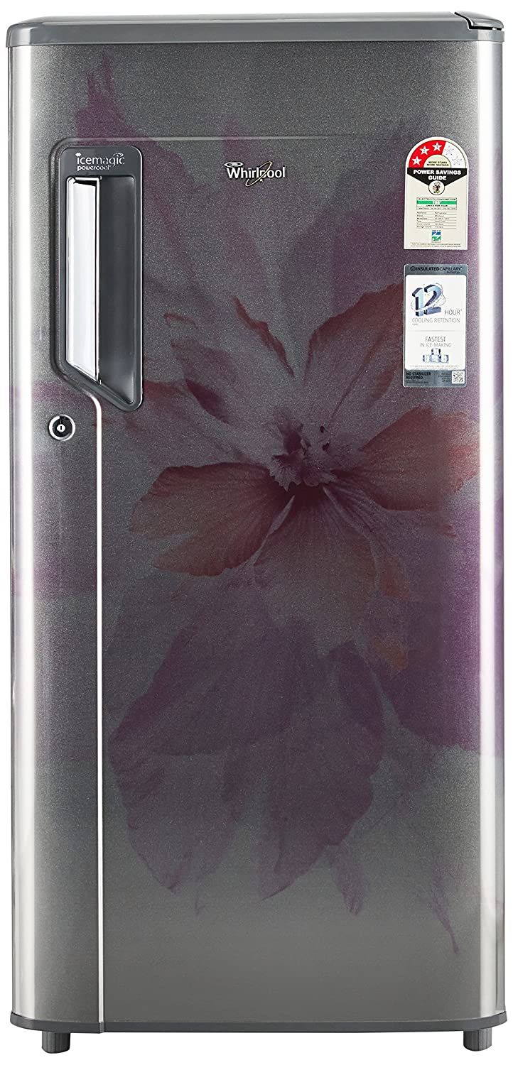 Whirlpool 185 L 3 Star Direct Cool Single Door Refrigerator 200 IMPWCOOL PRM 3S STEEL REGALIA E, Steel Regalia  Refrigerators