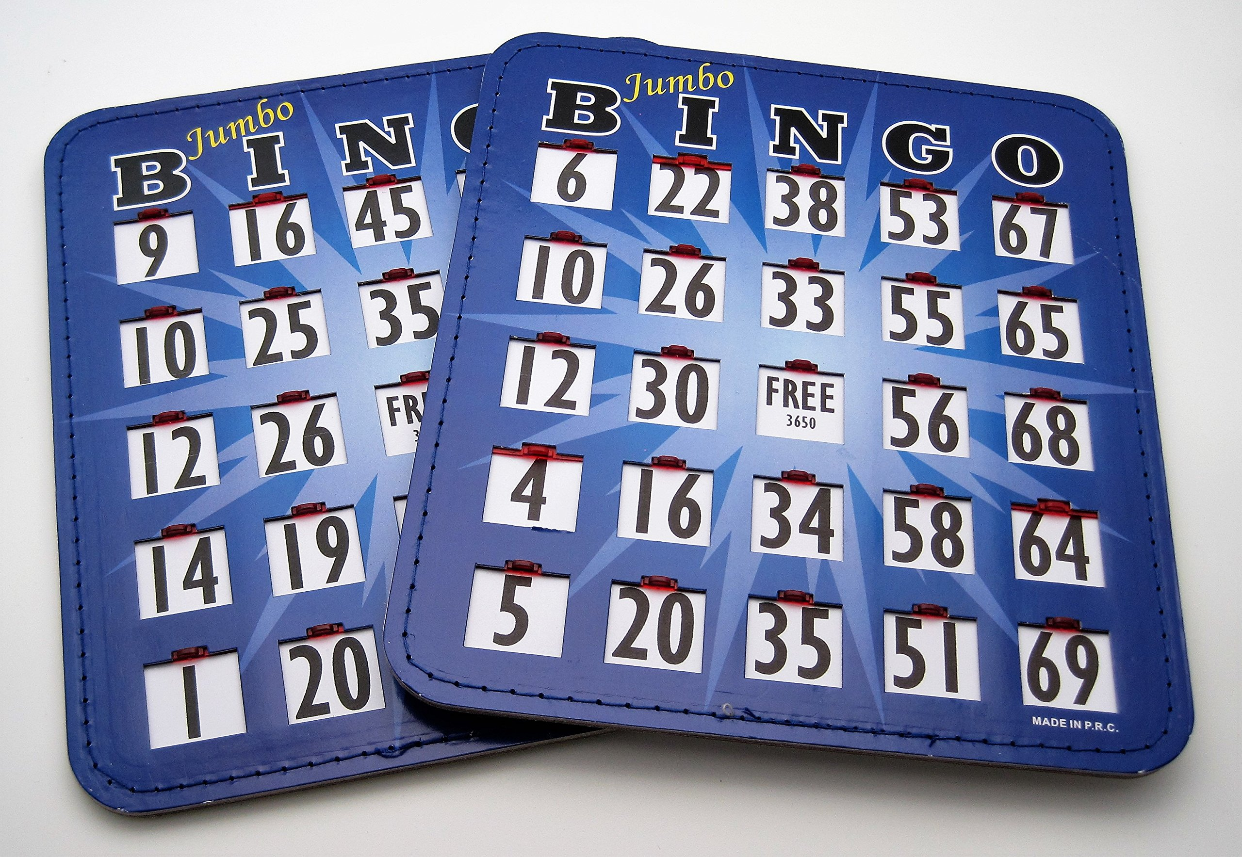 Pair (2) of Jumbo Bingo Cards