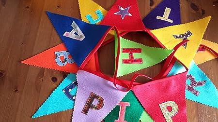 Banderines de cumpleaños para fieltro/cartel - tela letras ...