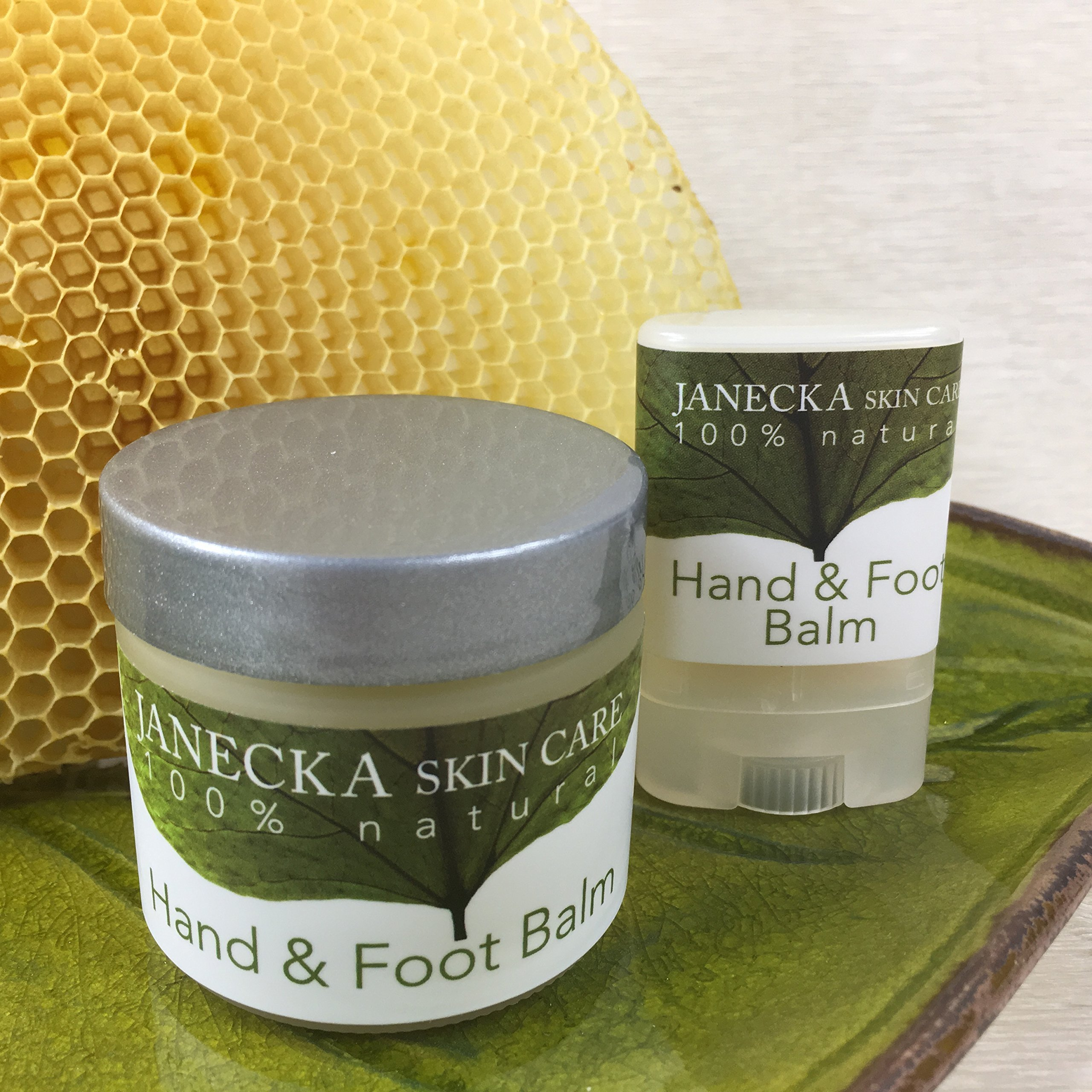 JANECKA Hand and Foot Balm/Travel Size and 2 oz Jar/Severe Cracked Skin