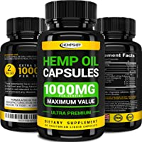 Hemp Oil Capsules 30,000 - Stress & Anxiety Relief - Made in the USA - Extra Strength, Maximum Value - Rich in Omega 3-6-9
