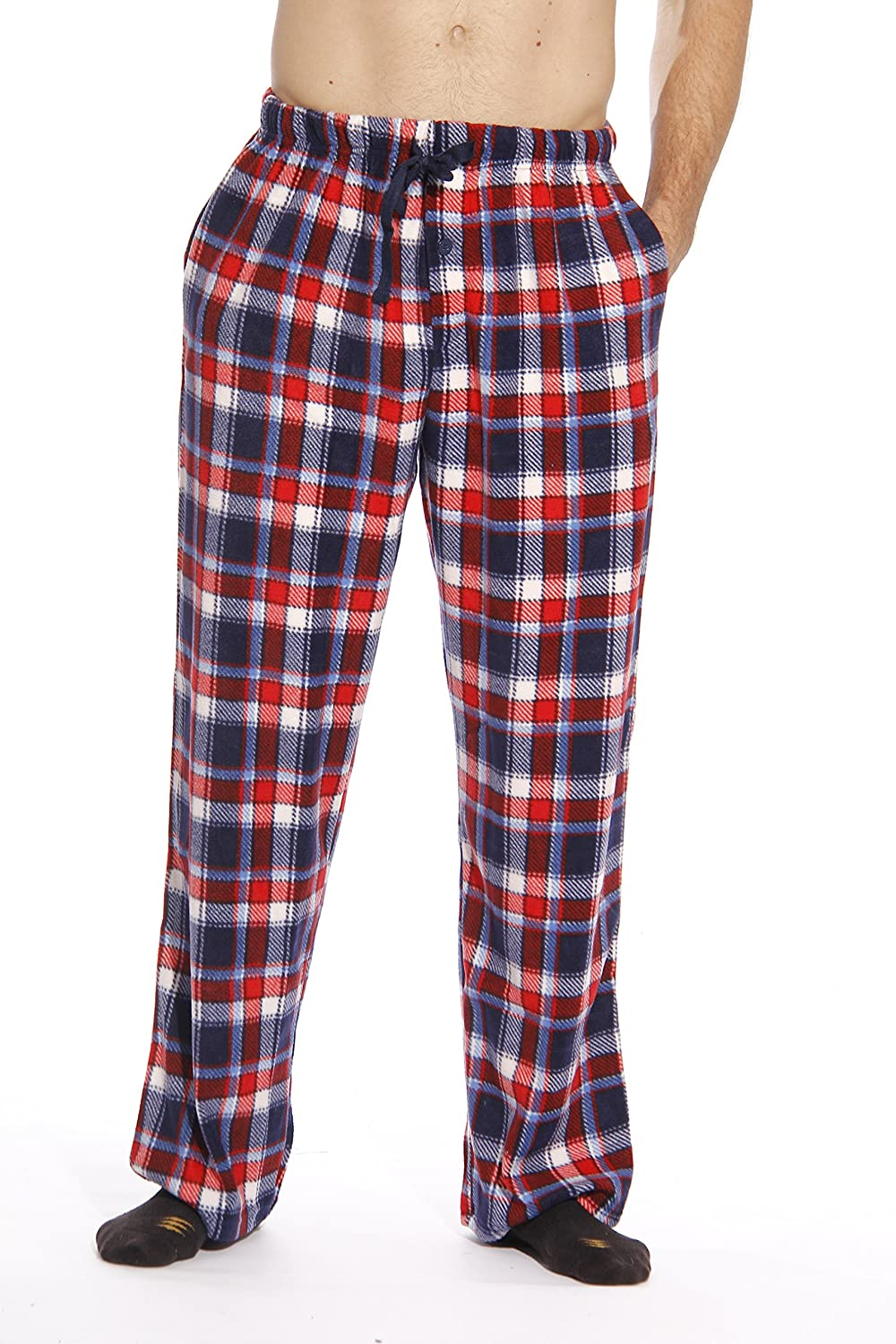 #followme Microfleece Men's Plaid Pajama Pants With Pockets