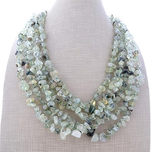 9e026afcf1fa Collar de prehnite verde