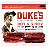 DUKE'S Shorty Smoked Sausage, Hot and Spicy, 5 Ounce