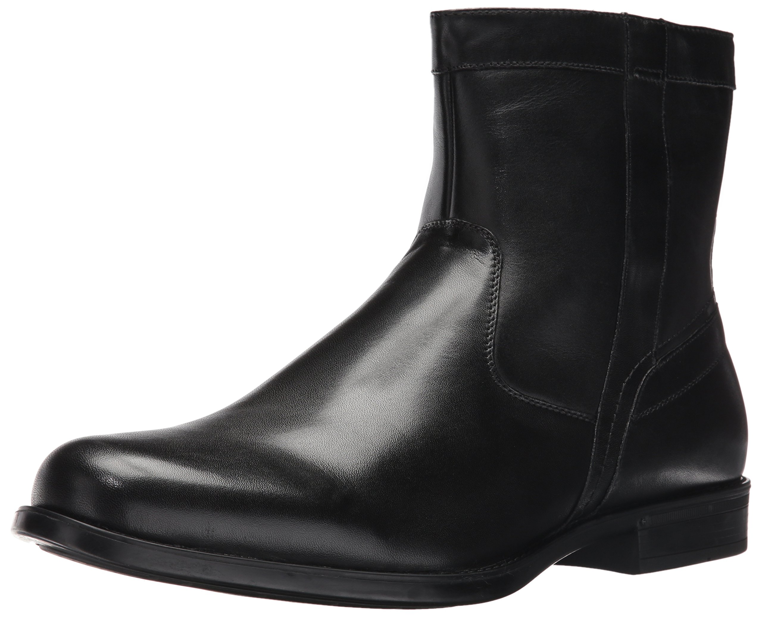 Florsheim Men's Medfield Plain Toe Zip Chelsea Boot, Black, 10 D US by Florsheim