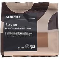 Marchio Amazon- Solimo Cialde Strong, compatibili con Senseo - caffè certificato UTZ, 90 cialde (5x18)