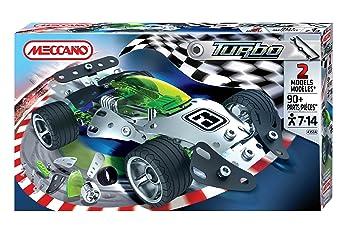 Meccano Turbo - Juego para construir un coche de carreras (pequeño, 2 modelos): Amazon.es: Juguetes y juegos
