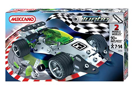 Meccano Turbo - Juego para construir un coche de carreras (pequeño, 2 modelos)