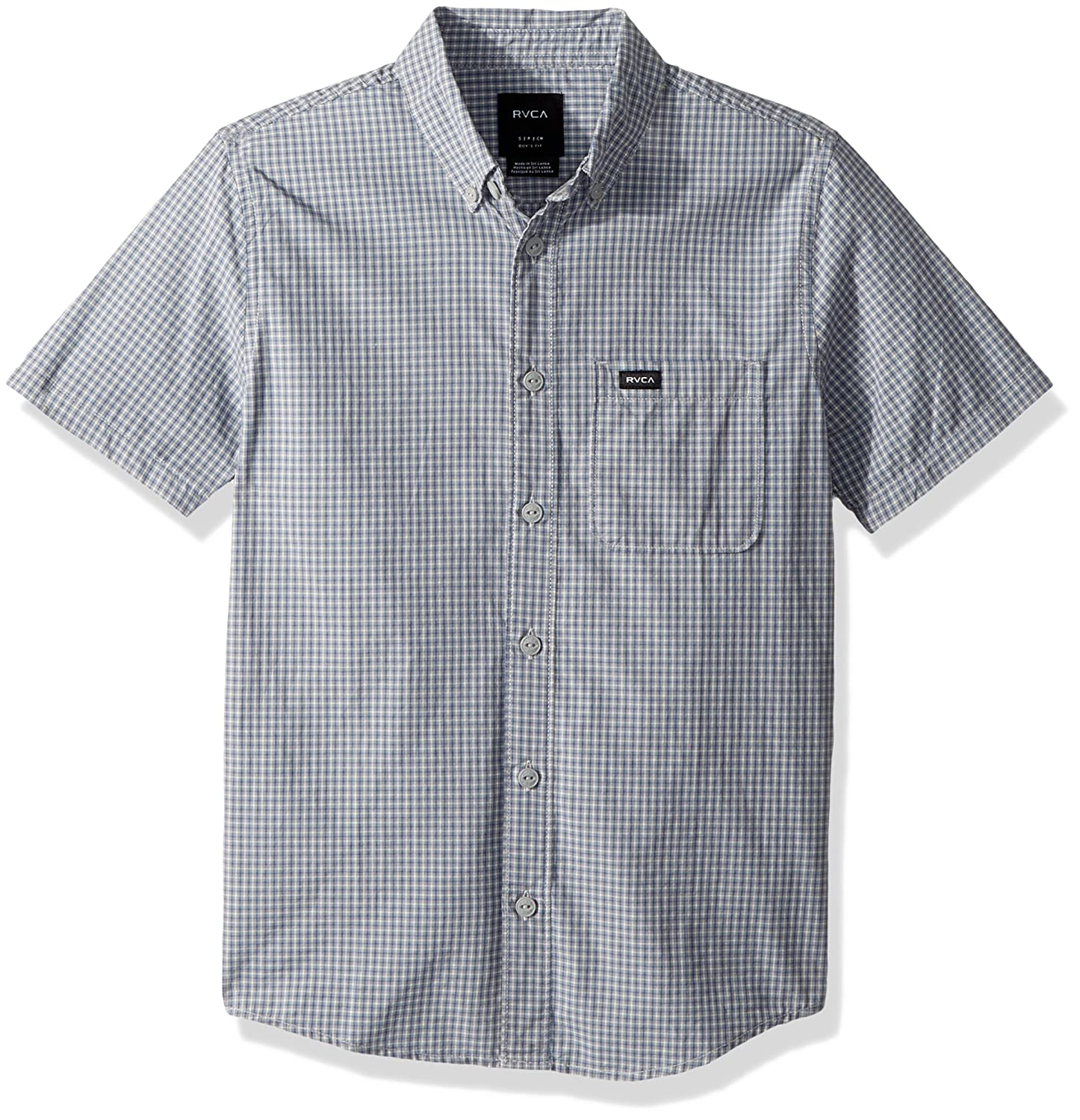 RVCA Boys Big Staple Short Sleeve Woven Button Down Shirt
