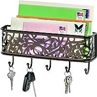 InterDesign Vine Mail Center and Key Rack, Bronze_Parent