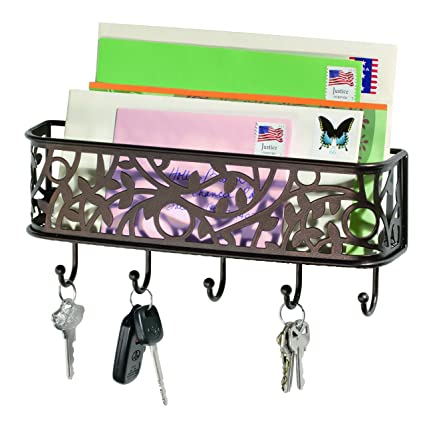 Bon InterDesign Vine Mail Holder And Key Rack U2013 Wall Mounted Letter Organizer  And 5 Key Hooks