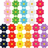 33 Pieces Flower Applique Patches Iron On Flower Patches Embroidered Repair Patches Mixed Color Decorative Patches for…