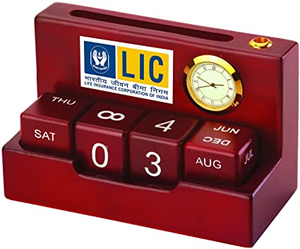 Presto Personalised PERPECTUAL Wooden Calender With Clock For Corporate Gift Birthday Husband Teachers Amazonin Home Kitchen