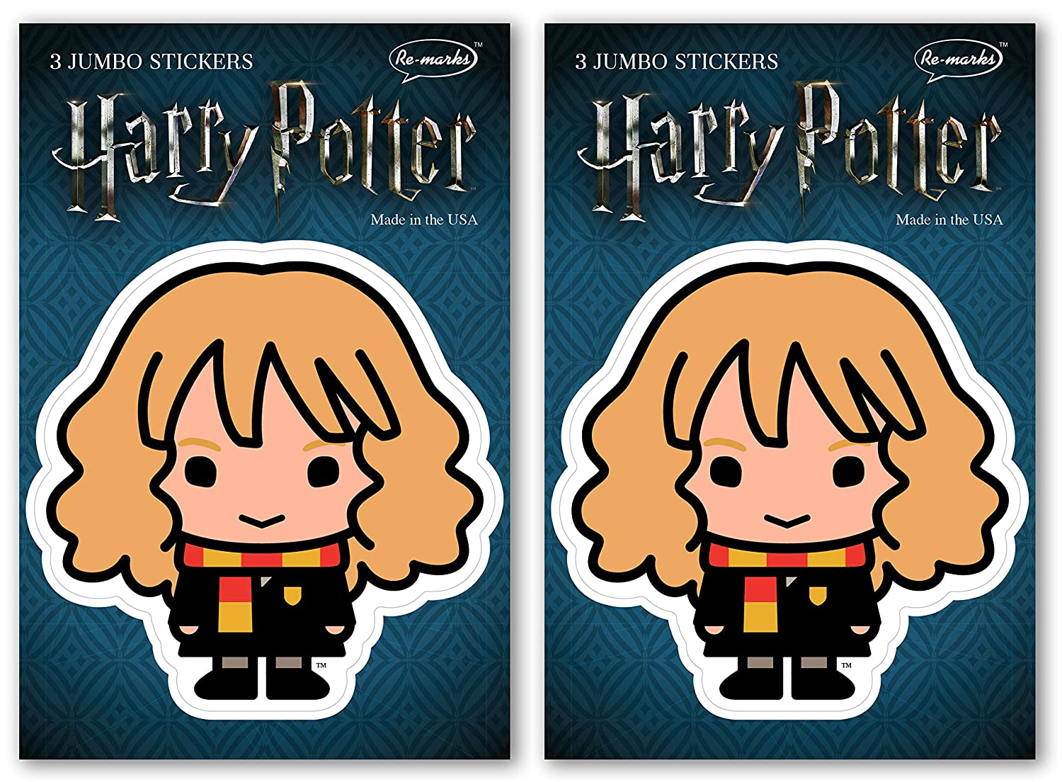 Re-marks Harry Potter Jumbo Hermione Stickers 6 Stickers Total 2 Pack -