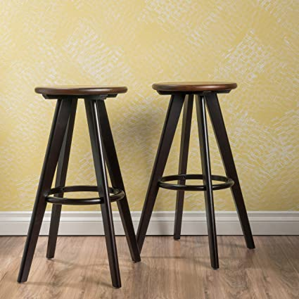 Amazoncom Brentwood Bar Furniture Mostly Modern Wood Bar Stools