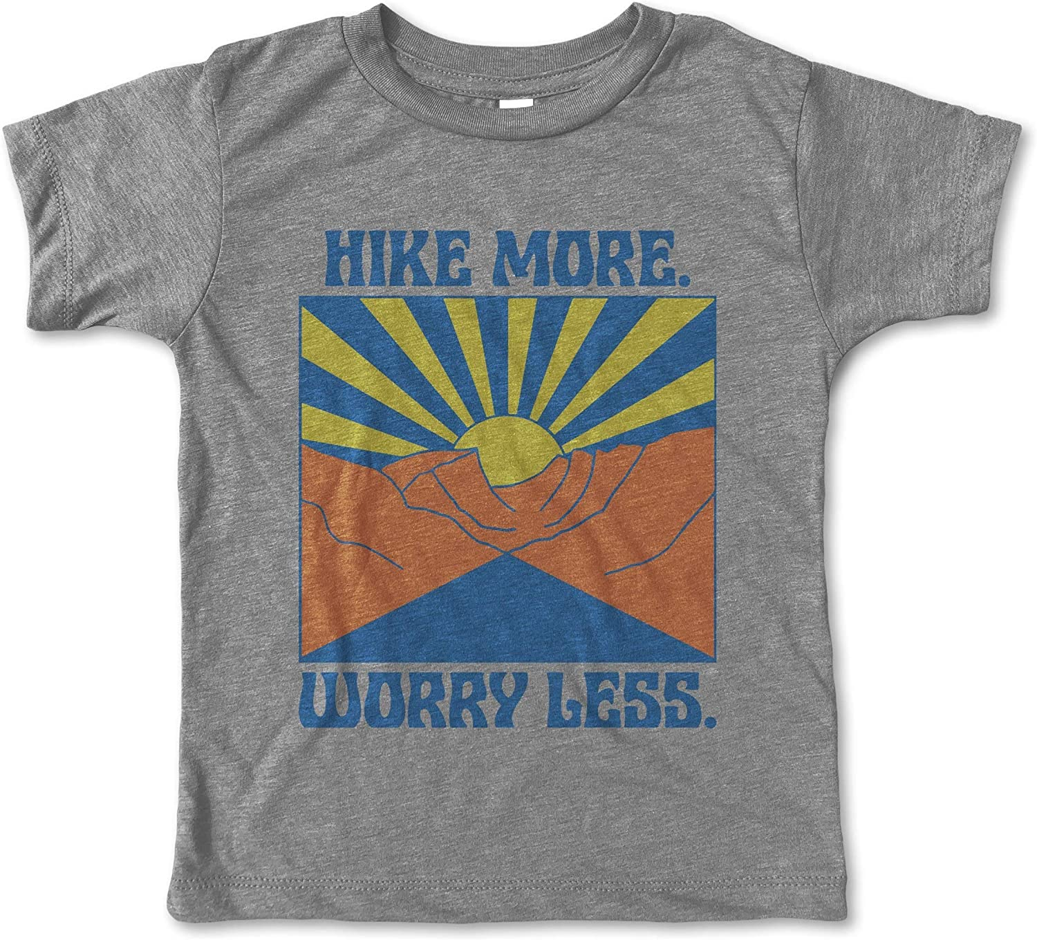 Rivet Apparel Co Kids and Toddler Boy Short Sleeve T-Shirt Hike More Worry Less Tee