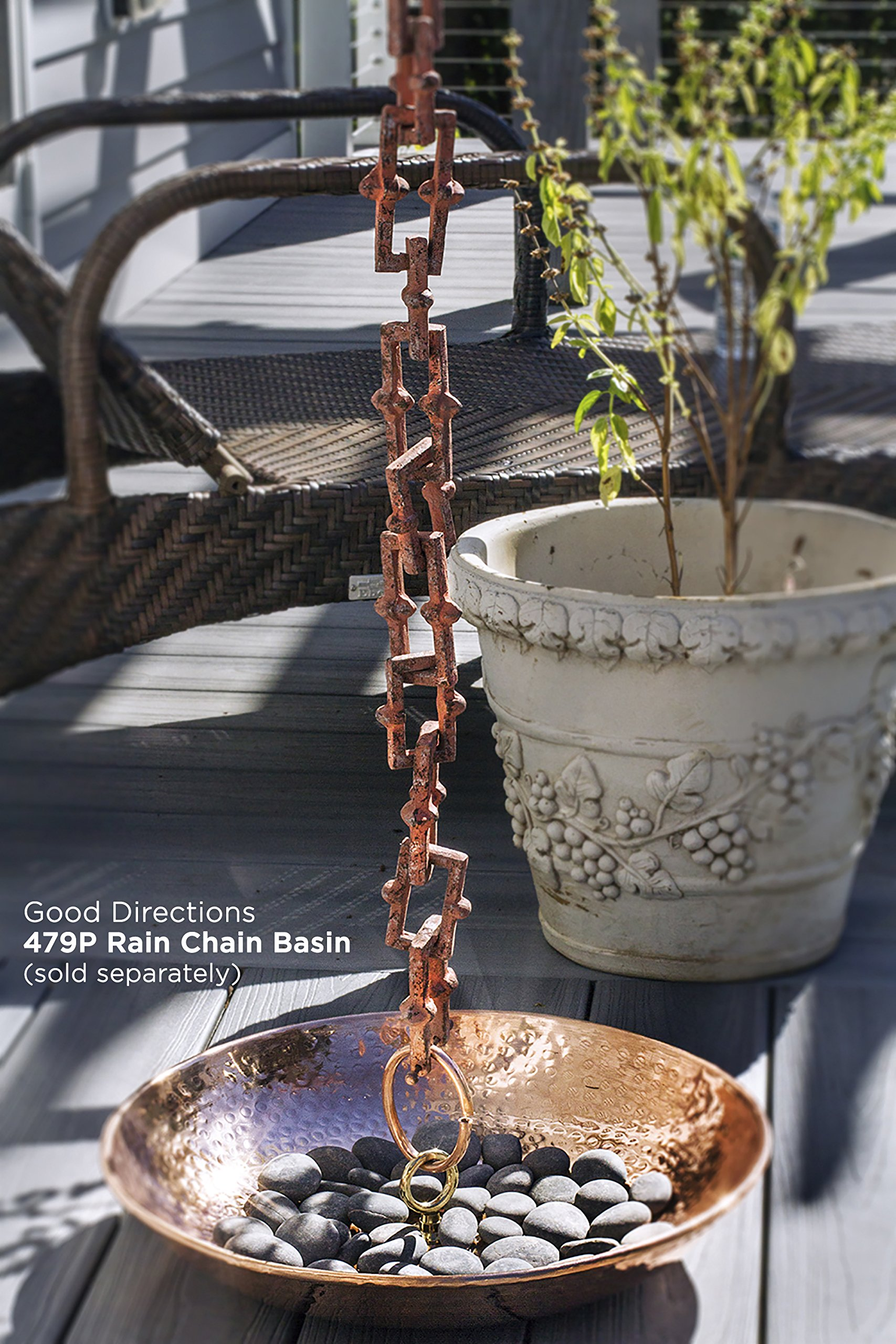 Good Directions Bamboo Rustic Aluminum 8.5-Foot Rain Chain by Good Directions (Image #4)