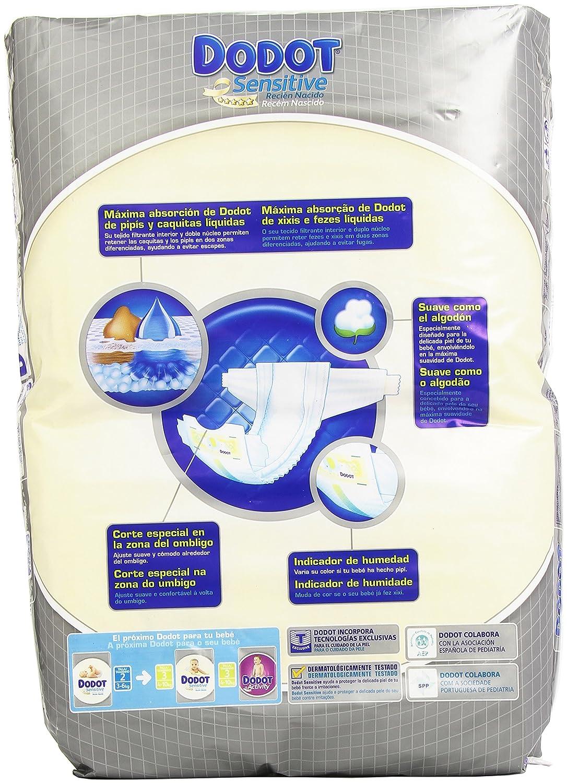 Dodot Sensitive - Recién Nacido - Talla 2: 3-6 kg - 66 pañales: Amazon.es: Salud y cuidado personal